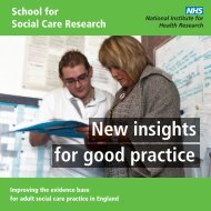 New insights for good practice - School for Social Care Research ...