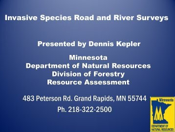 MN DNR Division of Forestry Resource Assessment