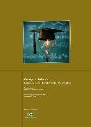 Energia e Ambiente: Lezione sulla Sostenibilità Energetica - Api
