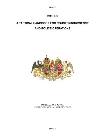 a tactical handbook for counterinsurgency and ... - Global Guerrillas