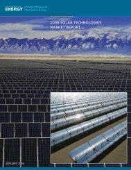 2008 Solar Technologies Market Report - EERE - U.S. Department ...