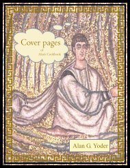 Cover pages - Alan's Cookbook