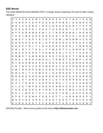 A PDF File Of The EEE Words Word Search Puzzle