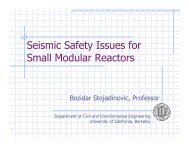 Seismic Safety Issues for Small Modular Reactors - Berkeley ...