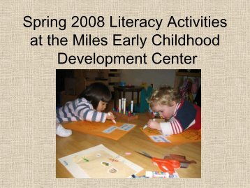 Short media presentation of literacy approach - Early Childhood ...