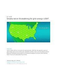 Smarta nät en förutsättning för grön energi i USA?