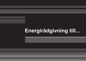 Energirådgivning till... - Energihushållning - Lunds Tekniska Högskola