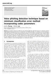 Voice phishing detection technique based on minimum classification ...