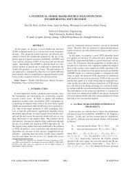 a statistical model-based double-talk detection incorporating soft ...