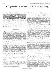 A preprocessor for low-bit-rate speech coding - IEEE ... - IEEE Xplore