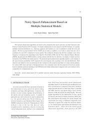 Noisy Speech Enhancement Based on Multiple Statistical Models