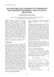 On using spectral gradient in conditional MAP criterion for robust ...