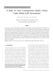 A Study on Voice Communication Quality Criteria Under Mobile ...