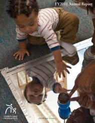 FY2011 Annual Report - Child Care Resources