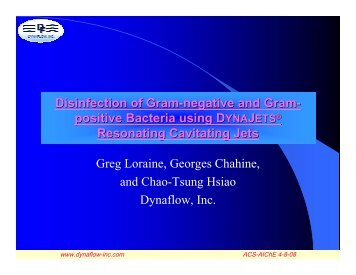 Disinfection of Gram-negative and Gram- positive ... - Dynaflow, Inc.