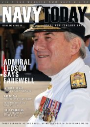 Navy Today Issue 142 April 2009 - Royal New Zealand Navy