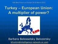 Turkey - EU - Bled Forum on Europe