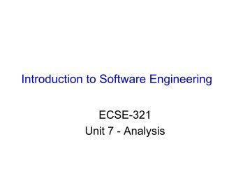 software engineering intro and review Intro to self-driving cars you will learn both conceptual and practical aspects of software engineering the course covers design processes and software testing software development processes will show you the skills and processes needed to complement technical understanding of.