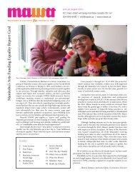 MAWA Newsletter Summer 2010 - Mentoring Artists for Women's Art