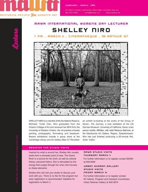 MAWA Newsletter Winter 2006 - Mentoring Artists for Women's Art