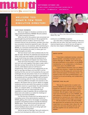September / October 2008 - Mentoring Artists for Women's Art