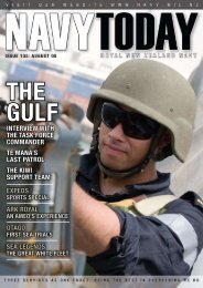 Navy Today August 08   Issue 135 - Royal New Zealand Navy