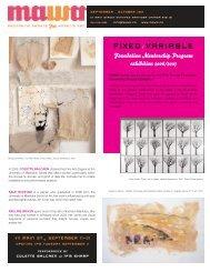 MAWA Newsletter Fall 2007 - Mentoring Artists for Women's Art