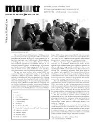 MAWA Newsletter Fall 2009 - Mentoring Artists for Women's Art
