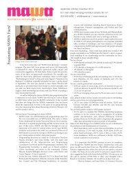 MAWA Newsletter Fall 2010 - Mentoring Artists for Women's Art