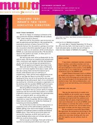 MAWA Newsletter Fall 2008 - Mentoring Artists for Women's Art