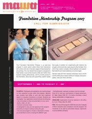 Foundation Mentorship Program 2007 - Mentoring Artists for ...