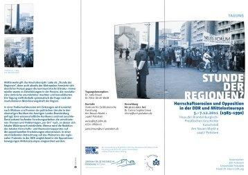Programm-Flyer - Zentrum für Zeithistorische Forschung Potsdam