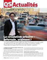 La circulation urbaine : infernale, vraiment? - Route Verte