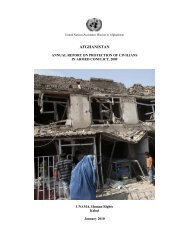 Afghanistan Annual Report on Protection of Civilians in Armed Conflict