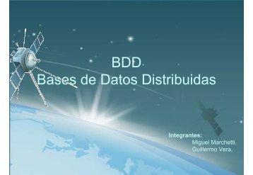 BDD Bases de Datos Distribuidas