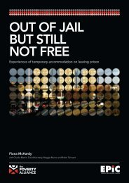 OUT OF JAIL BUT STILL NOT FREE - Poverty and Social Exclusion