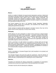 ACGC VOLUNTEER POLICY - Alberta Council for Global Cooperation
