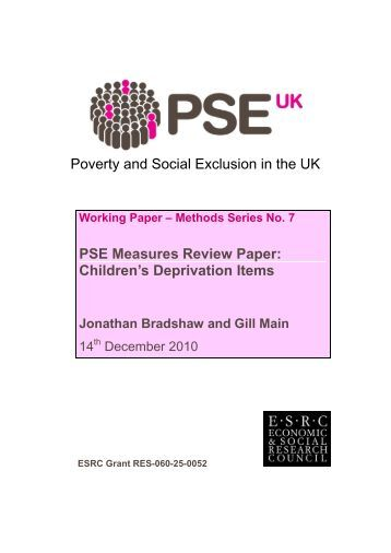 social exclusion deprivation Social exclusion vs poverty essay 1644 words | 7 pages contribute towards social exclusion in the united kingdom not all of these factors are as straightforward as each other.
