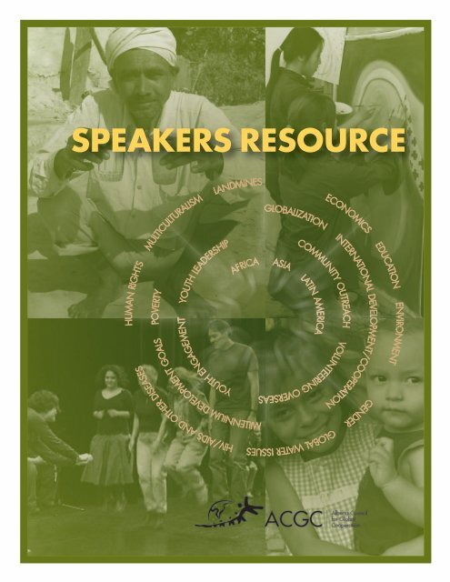 SPEAKERS RESOURCE - Alberta Council for Global Cooperation