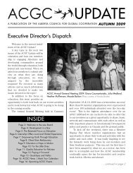 Fall 2009 - Alberta Council for Global Cooperation