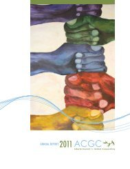 ANNUAL REPORT - Alberta Council for Global Cooperation