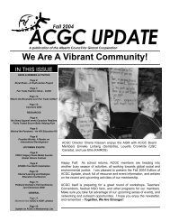 Fall 2004 - Alberta Council for Global Cooperation