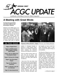 Spring 2007 - Alberta Council for Global Cooperation