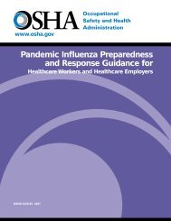 Pandemic Influenza Preparedness and Response Guidance for