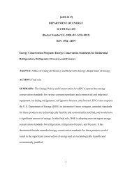Final rule. - EERE - U.S. Department of Energy