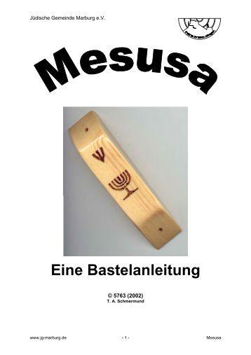 Eine Bastelanleitung - zwst hadracha