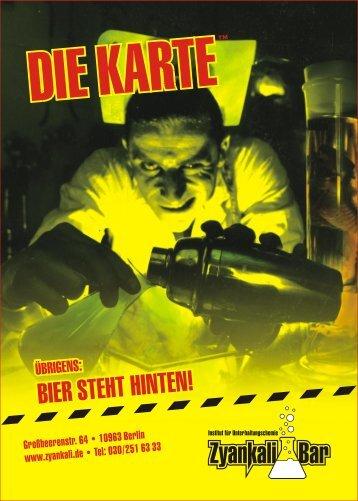 Großbeerenstr. 64 • 10963 Berlin www.zyankali.de ... - Zyankali Bar