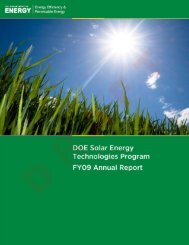 DOE Solar Energy Technologies Program FY09 Annual Report ...