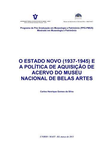 Carlos Henrique Gomes da Silva. - PPG-PMUS - Museu de ...