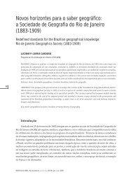 Novos horizontes para o saber geográfico: a Sociedade de ... - SBHC